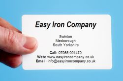The uk ironing and cleaning service directory start your own 100 business cards the ironing service pronofoot35fo Image collections